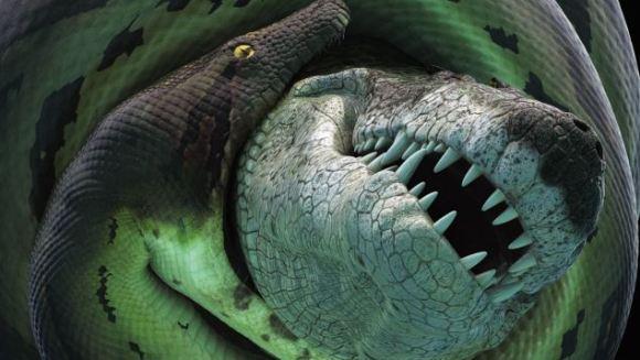 Crocodilul uriaş vs. şarpele gigantic: bătăliile subacvatice de acum 60 de milioane de ani