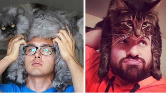 Bărbații cu pălării-pisici cuceresc internetul - Galerie foto