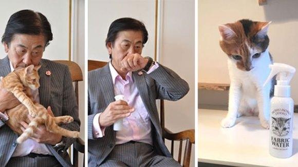 Japonezii au creat sprayul cu miros de pisică - Galerie Foto