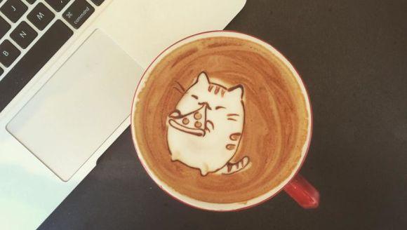 Artă și cafea – cele mai tari desene cu animăluțe, într-o ceașcă de cafea - Galerie Foto
