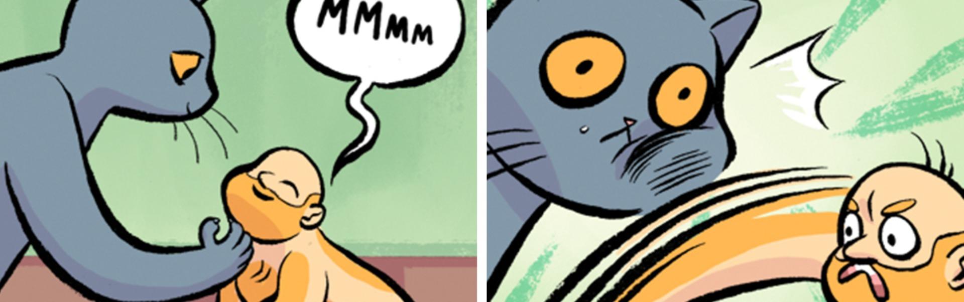 Când omul devine pisică! 10 benzi desenate care ne arată cum ar fi ca oamenii şi pisicile să facă schimb de roluri – Foto