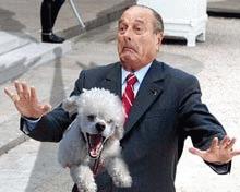 Jacques Chirac a renuntat la cainele sau violent