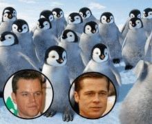 Matt Damon si Brad Pitt isi imprumuta vocile pentru Happy Feet 2