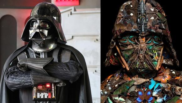 Cum arată masca lui Darth Vader, construită din gândaci? Superbă și terifiantă, în același timp