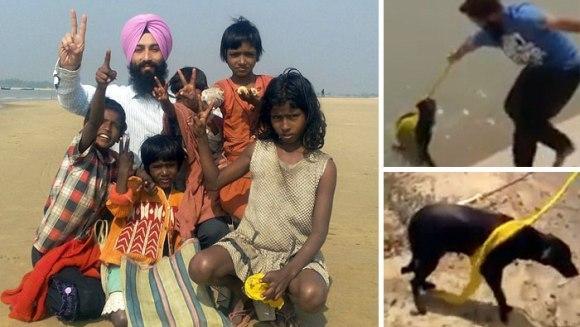 Un indian a făcut un gest neașteptat, pentru a salva un câine de la înec