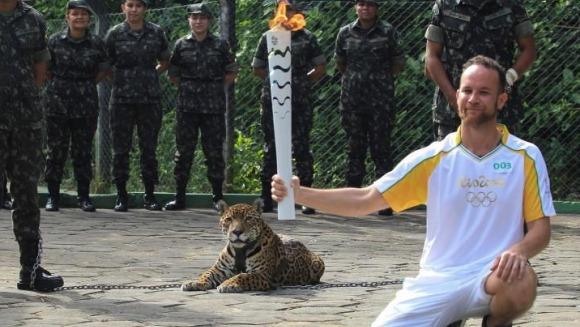 Jaguar împușcat mortal, în timpul ceremoniei JO 2016