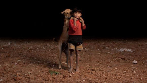 Povestea orfanilor care își împart mâncarea cu patrupezii străzii - Galerie Foto