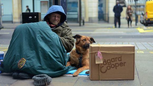 Legătura indestructibilă dintre oamenii străzii şi câinii lor, în imagini emoţionante