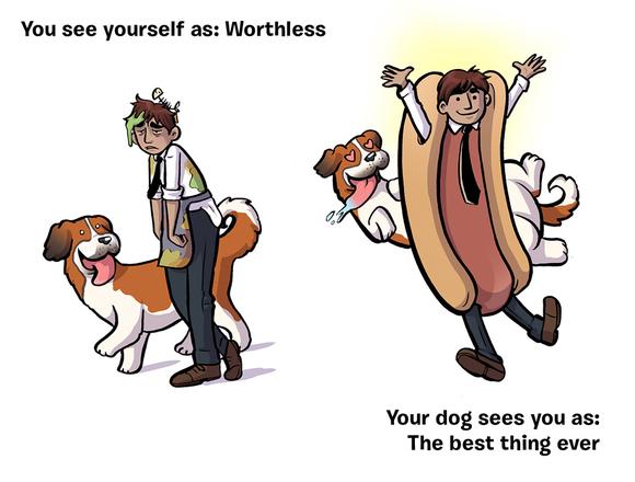 Învaţă să te preţuieşti: cum te vezi tu, versus cum te vede câinele tău  - FOTO